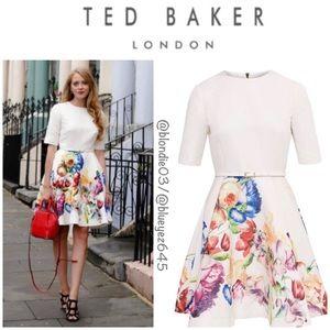 """Ted Baker """"Tutsi"""" tapestry flora dress 3 (US 8)"""